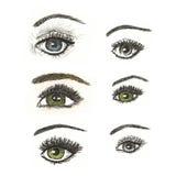 Нарисованная рукой художническая иллюстрация глаза Стоковые Изображения
