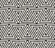 Нарисованная рукой черно-белыми картина striped чернилами безшовная Текстура решетки grunge вектора Monochrome щетка штрихует лин иллюстрация вектора