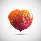 Нарисованное вручную покрашенное сердце Стоковые Фото