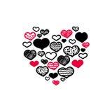 Нарисованное вручную сердце Стоковые Фото