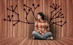 Нарисованное дерево сети Стоковая Фотография