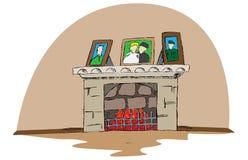 Нарисованное рукой место огня вектора Иллюстрация шаржа Doodle бесплатная иллюстрация
