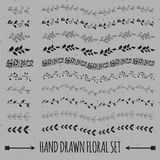 Нарисованное рукой собрание украшения вектора Стоковые Фотографии RF