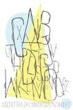 нарисованные алфавитом письма руки Стоковое фото RF