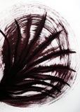 Нарисованные вибрируя линии которые сходятся в одном месте Прохлада движения листьев пальм стоковое фото rf