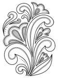 Нарисованные вручную абстрактные цветки Стоковое Фото