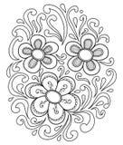 Нарисованные вручную абстрактные цветки Стоковые Изображения RF