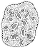 Нарисованные вручную абстрактные цветки Стоковое фото RF