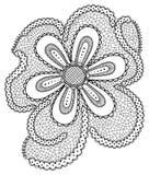 Нарисованные вручную абстрактные цветки Стоковая Фотография RF