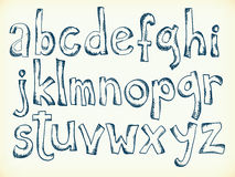 Нарисованные вручную буквы алфавита Стоковое Изображение
