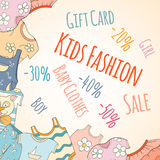 Нарисованные вручную скидки магазина младенца иллюстрация штока