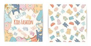 Нарисованные вручную скидки магазина младенца бесплатная иллюстрация