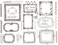 Нарисованные вручную элементы для дизайна Стоковое Изображение RF