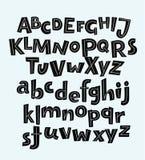 Нарисованные рукой алфавиты вектора Стоковое Изображение RF