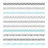 Нарисованные рукой границы вектора, элементы дизайна Стоковые Изображения