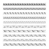 Нарисованные рукой границы вектора, элементы дизайна Стоковые Фотографии RF