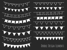 Нарисованные рукой изолированные элементы дизайна doodle Стоковое Изображение RF