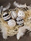 Нарисованные рукой пасхальные яйца стоковое изображение