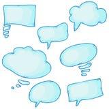 Нарисованные рукой пузыри речи Стоковые Фотографии RF