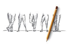 Нарисованные рукой различные положения ног Стоковая Фотография RF