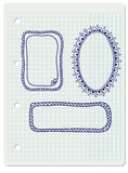 Нарисованные рукой рамки doodle Стоковая Фотография