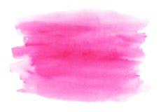 Нарисованные рукой розовые ходы щетки акварели Стоковая Фотография