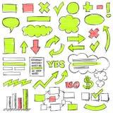 Нарисованные рукой установленные doodles дела Стоковая Фотография RF
