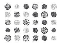 Нарисованные рукой флористические декоративные элементы дизайна Стоковое фото RF