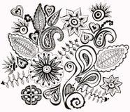Нарисованные рукой цветки изображения Стоковое фото RF