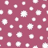 Нарисованные рукой цветки doodle шаржа Camomiles и бутоны флористическая картина безшовная Фасонируйте стиль для ткани печатей, б Стоковое Изображение