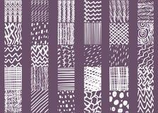 Нарисованные рукой элементы дизайна плитки Стоковые Фото