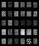 Нарисованные рукой элементы дизайна плитки Стоковое Изображение
