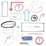 Нарисованные рукой элементы дизайна бесплатная иллюстрация