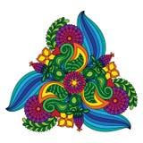 Нарисованные рукой doodles шаржа Стоковое фото RF