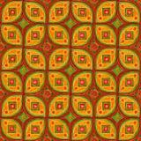 Нарисованный вручную графический орнамент в цветах осени иллюстрация вектора
