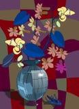 Нарисованный вручную натюрморт в стиле Nouveau искусства бесплатная иллюстрация