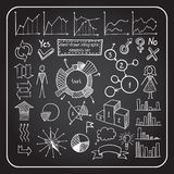 Нарисованный вручную infographic комплект элемента Стоковые Фото