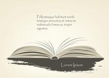 Нарисованный книге с текстом и графиками Стоковая Фотография