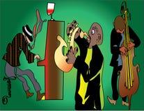 нарисованный полосой джаз руки Стоковые Фото