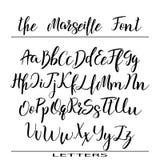 Нарисованный рукой алфавит вектора Письма каллиграфии для вашего дизайна иллюстрация штока