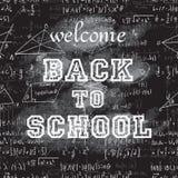 Нарисованный рукой бакборт школы Стоковые Фото