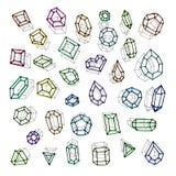 Нарисованный рукой вектор абстракции драгоценных камней иллюстрация штока