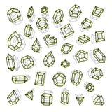 Нарисованный рукой вектор абстракции драгоценных камней иллюстрация вектора