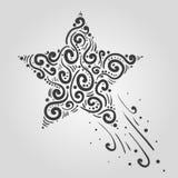 Нарисованный рукой вектор влияния Элементы каракулей Притяжка конспекта тетради для вашего дизайна Стоковое Изображение