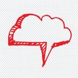 Нарисованный рукой дизайн символа иллюстрации речи пузыря Стоковое фото RF