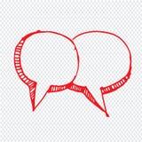 Нарисованный рукой дизайн символа иллюстрации речи пузыря Стоковые Изображения RF
