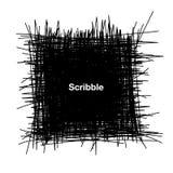 Нарисованный рукой квадрат Scribble иллюстрация вектора