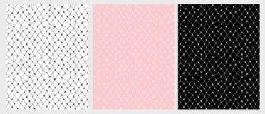 Нарисованный рукой комплект картины вектора сетки шнурка 3 различных цвета иллюстрация штока