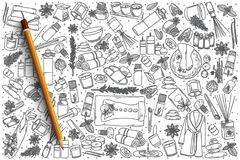 Нарисованный рукой комплект doodle вектора ароматерапии Стоковые Фото