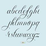 Нарисованный рукой комплект строчной буквы Стоковые Фото